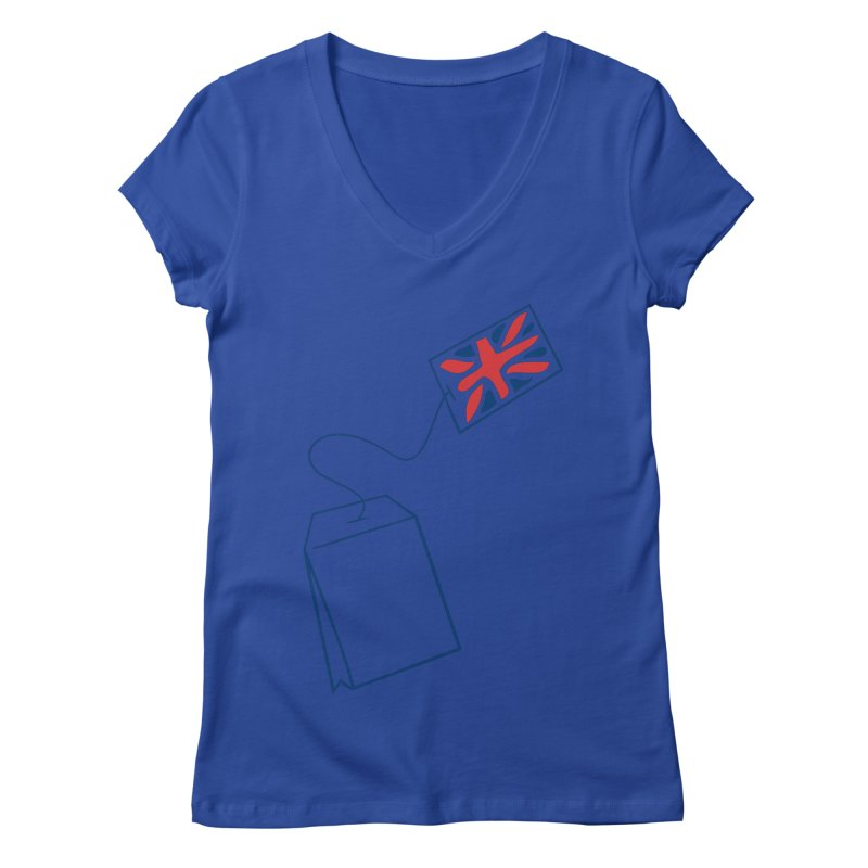 Little Tea Bag Women's V-Neck by Synner Design