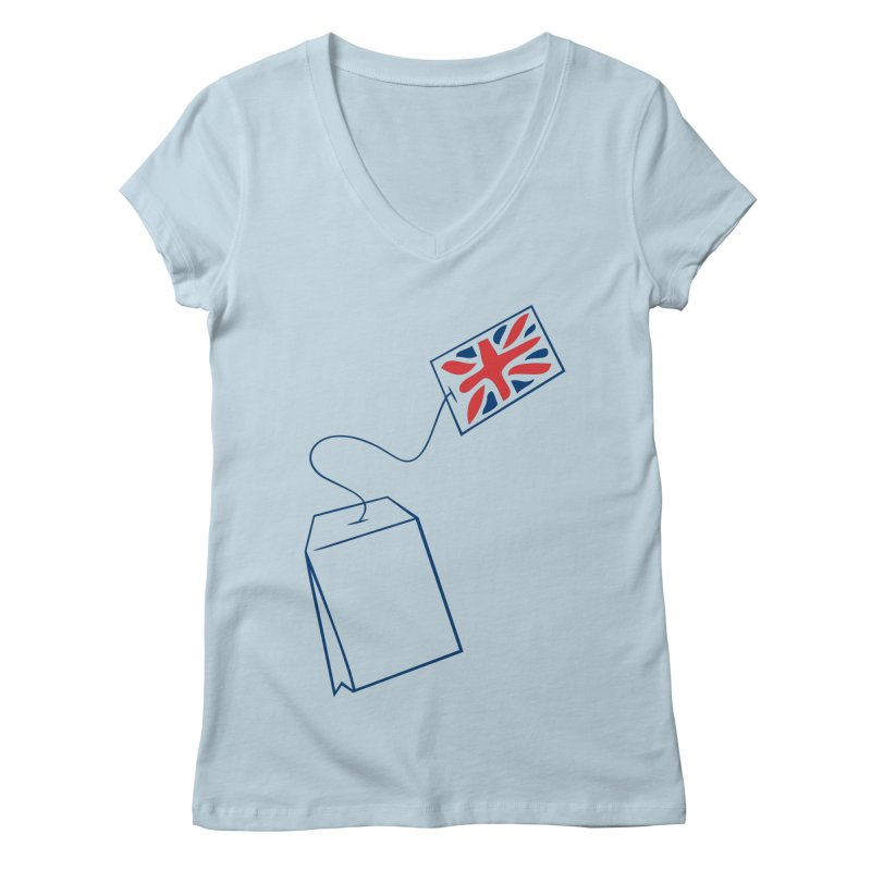 Little Tea Bag Women's Regular V-Neck by Synner Design