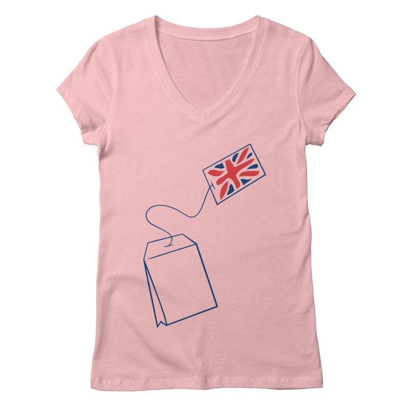 Little Tea Bag Women's V-Neck by Synner Design