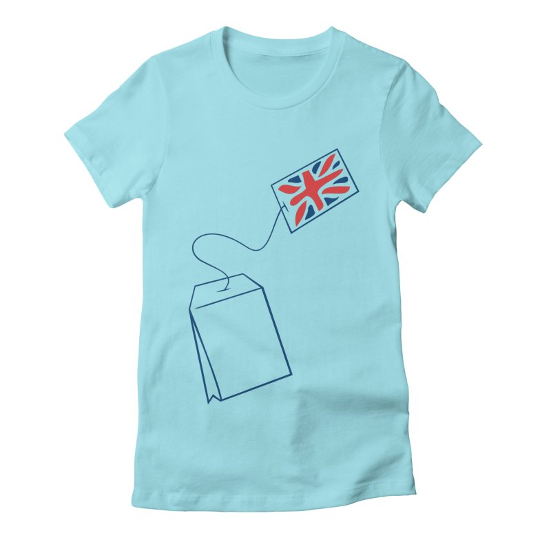 Little Tea Bag Women's Fitted T-Shirt by Synner Design