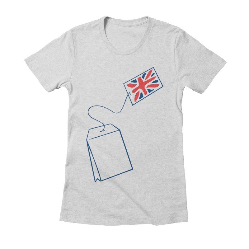 Little Tea Bag Women's Fitted T-Shirt by Synner Design