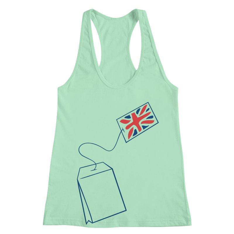 Little Tea Bag Women's Racerback Tank by Synner Design