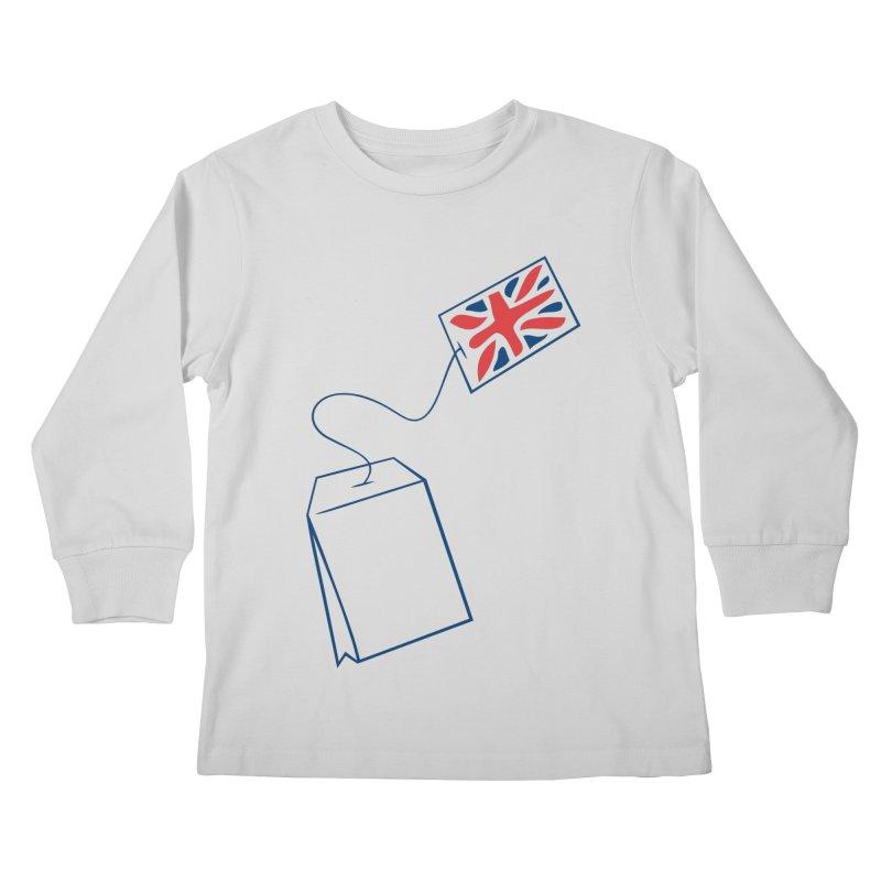 Little Tea Bag Kids Longsleeve T-Shirt by Synner Design