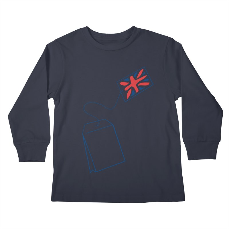 Little Tea Bag Kids Longsleeve T-Shirt by Synner Design