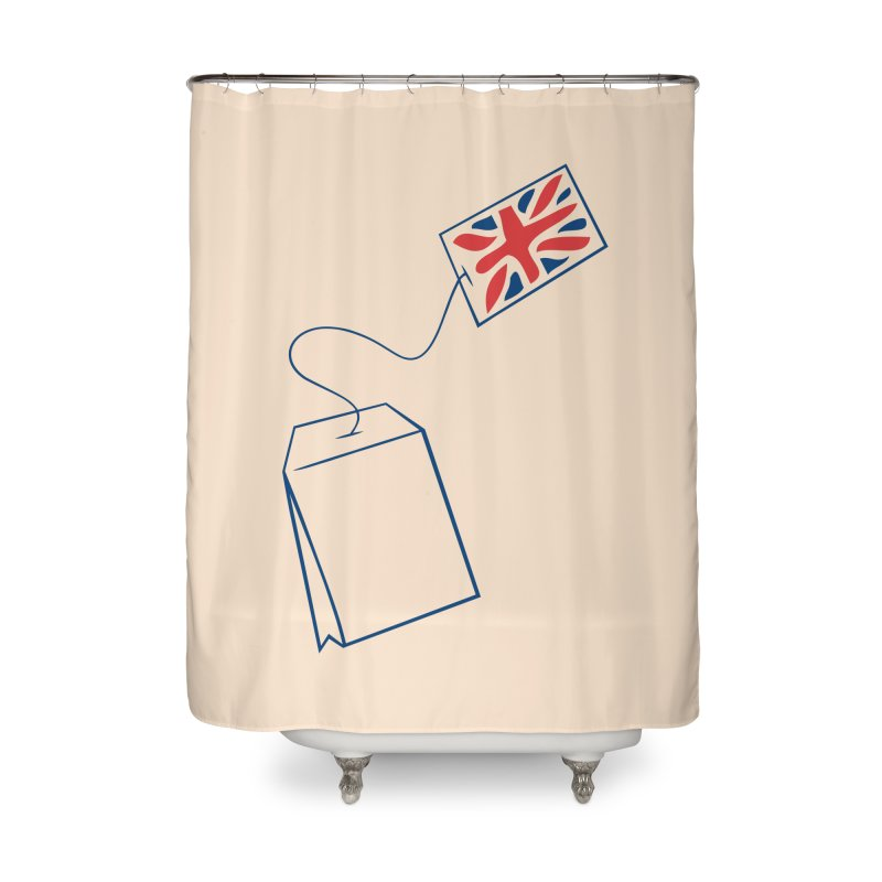 Little Tea Bag Home Shower Curtain by Synner Design