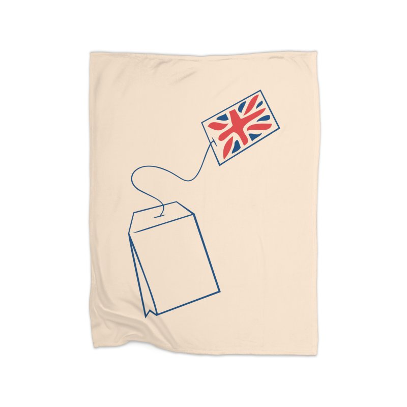 Little Tea Bag Home Fleece Blanket Blanket by Synner Design