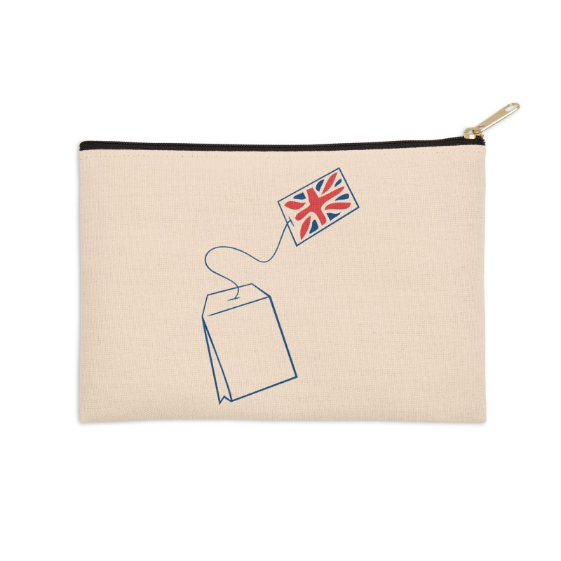 Little Tea Bag Accessories Zip Pouch by Synner Design