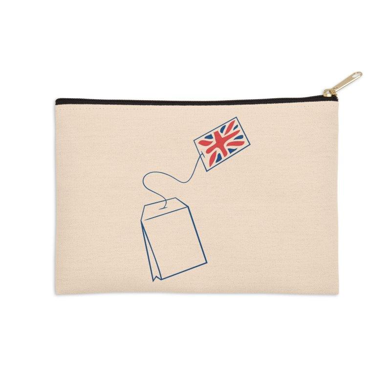 Little Tea Bag Accessories Zip Pouch by Synner Design