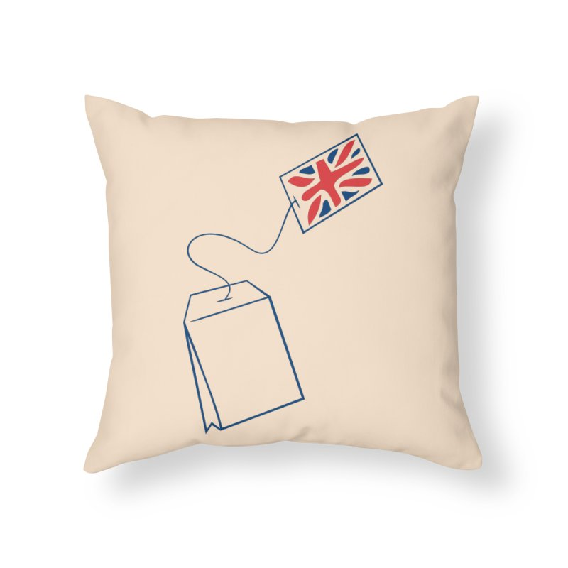 Little Tea Bag Home Throw Pillow by Synner Design