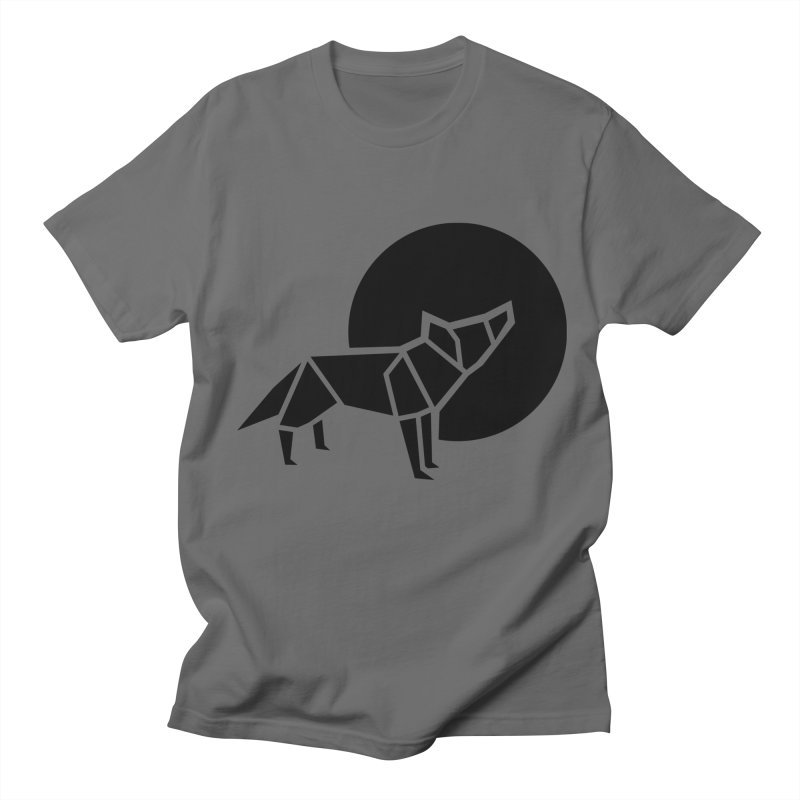 Black wolf origami Women's T-Shirt by Synner Design