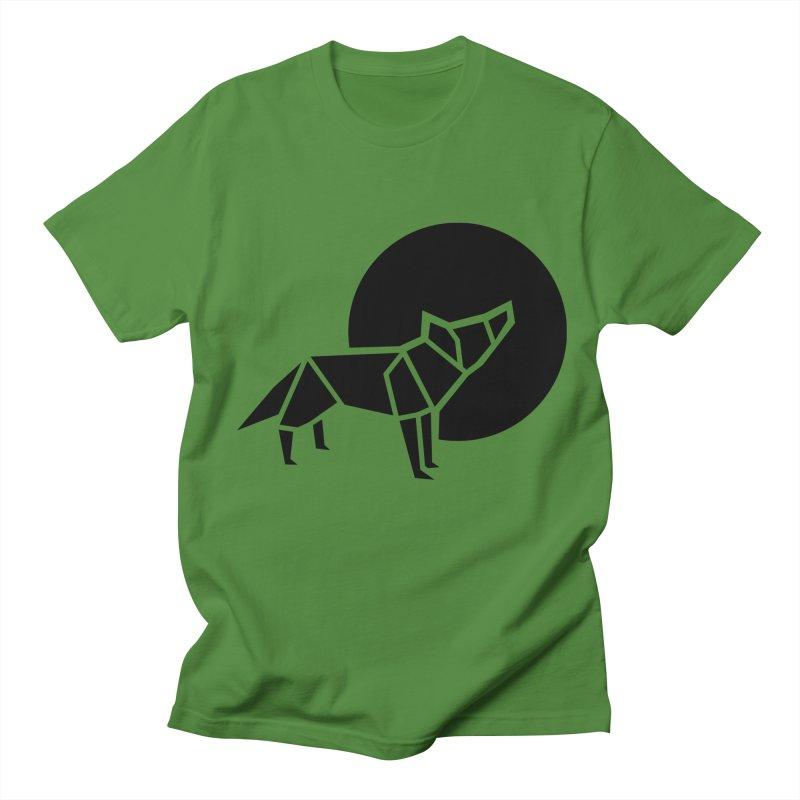 Black wolf origami Women's Unisex T-Shirt by Synner Design