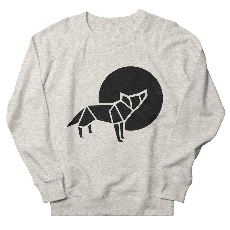 Black wolf origami Men's Sweatshirt by Synner Design