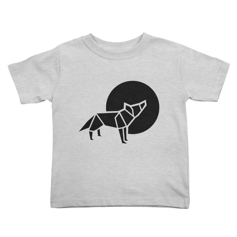 Black wolf origami Kids Toddler T-Shirt by Synner Design
