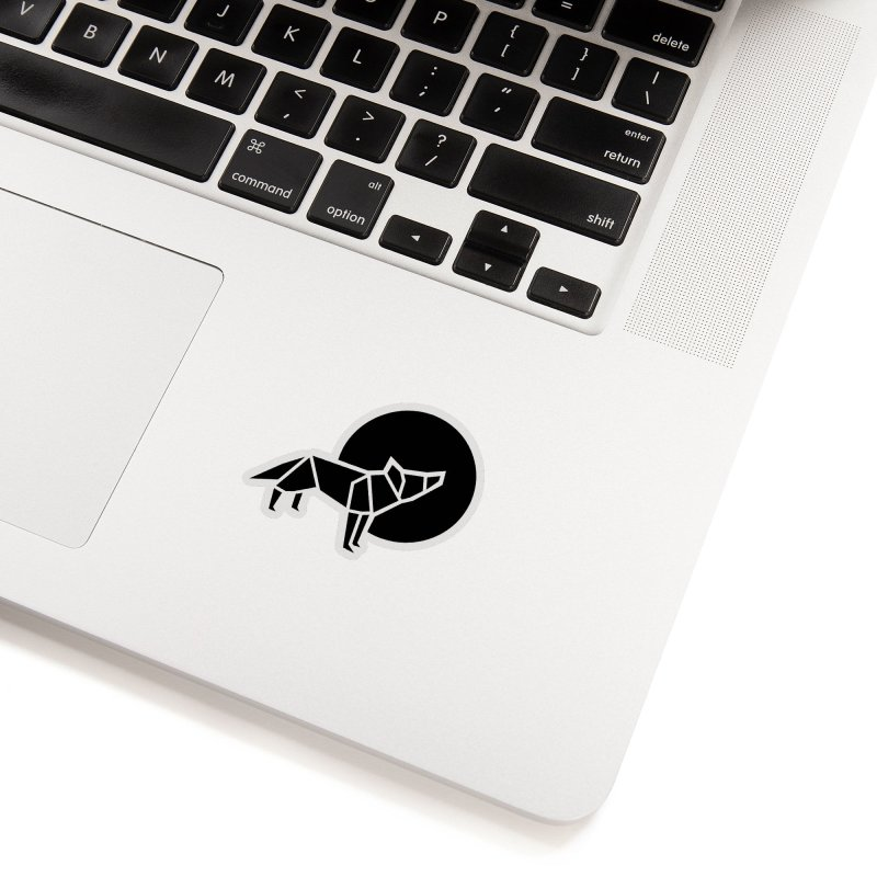 Black wolf origami Accessories Sticker by Synner Design
