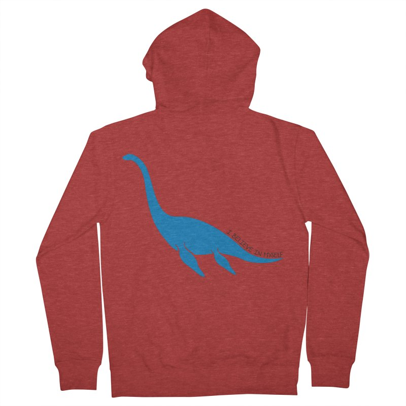 Nessie, I believe! Men's French Terry Zip-Up Hoody by Synner Design