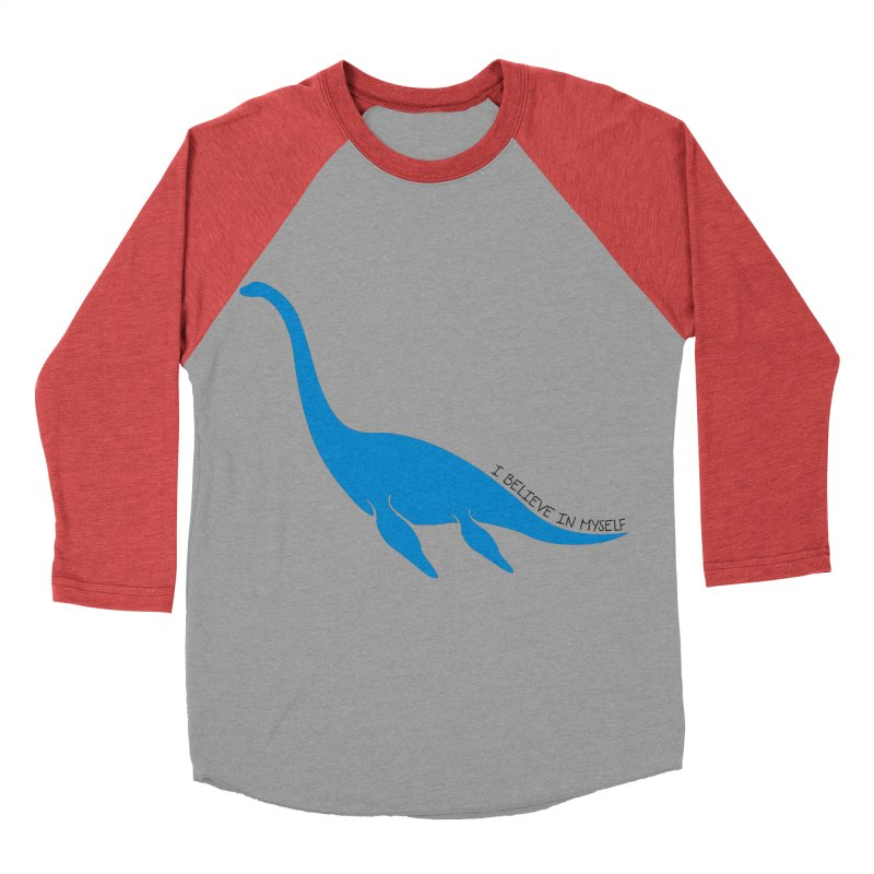 Nessie, I believe! Women's Baseball Triblend Longsleeve T-Shirt by Synner Design