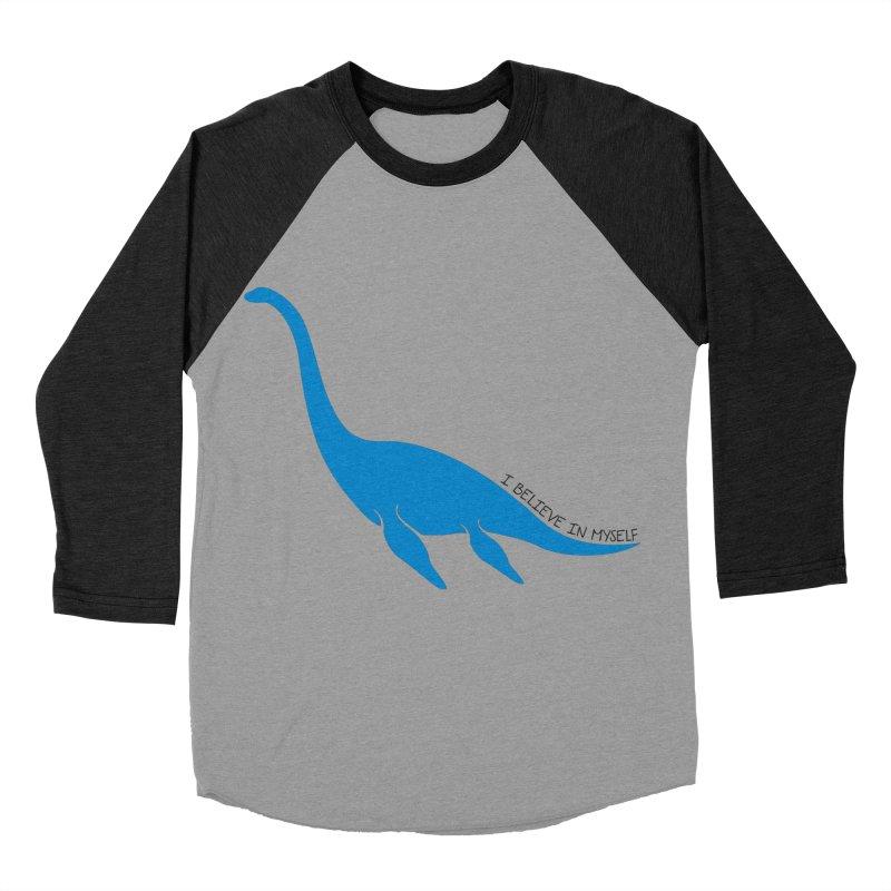 Nessie, I believe! Women's Baseball Triblend Longsleeve T-Shirt by Synner Design