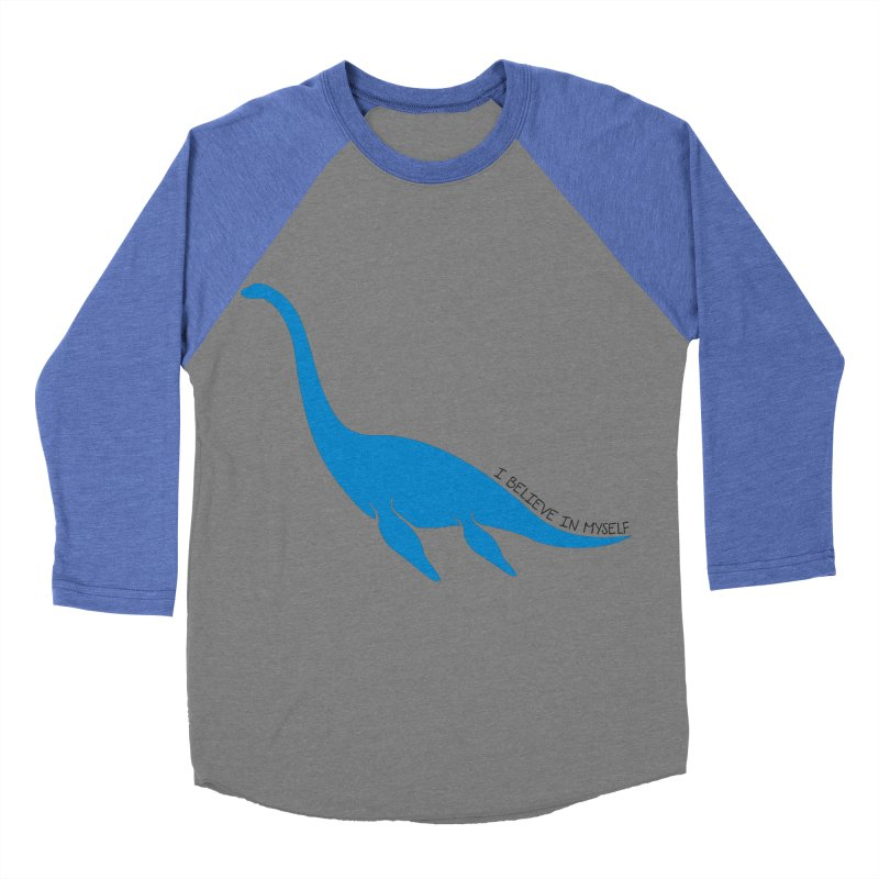 Nessie, I believe! Men's Baseball Triblend T-Shirt by Synner Design