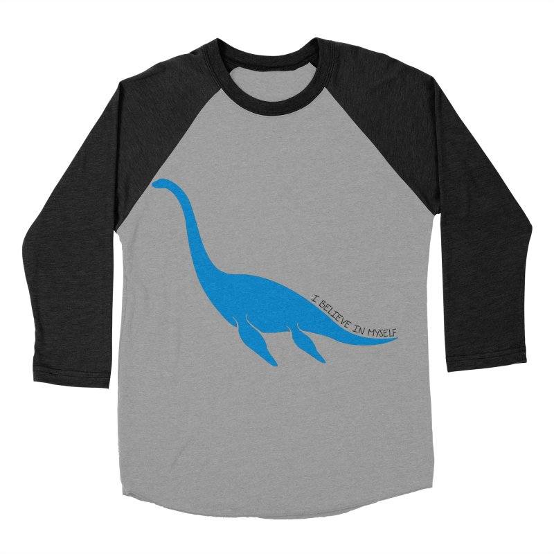 Nessie, I believe! Men's Baseball Triblend Longsleeve T-Shirt by Synner Design