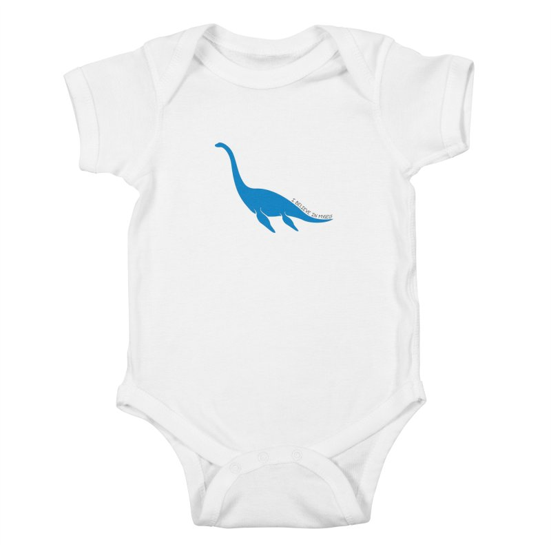 Nessie, I believe! Kids Baby Bodysuit by Synner Design