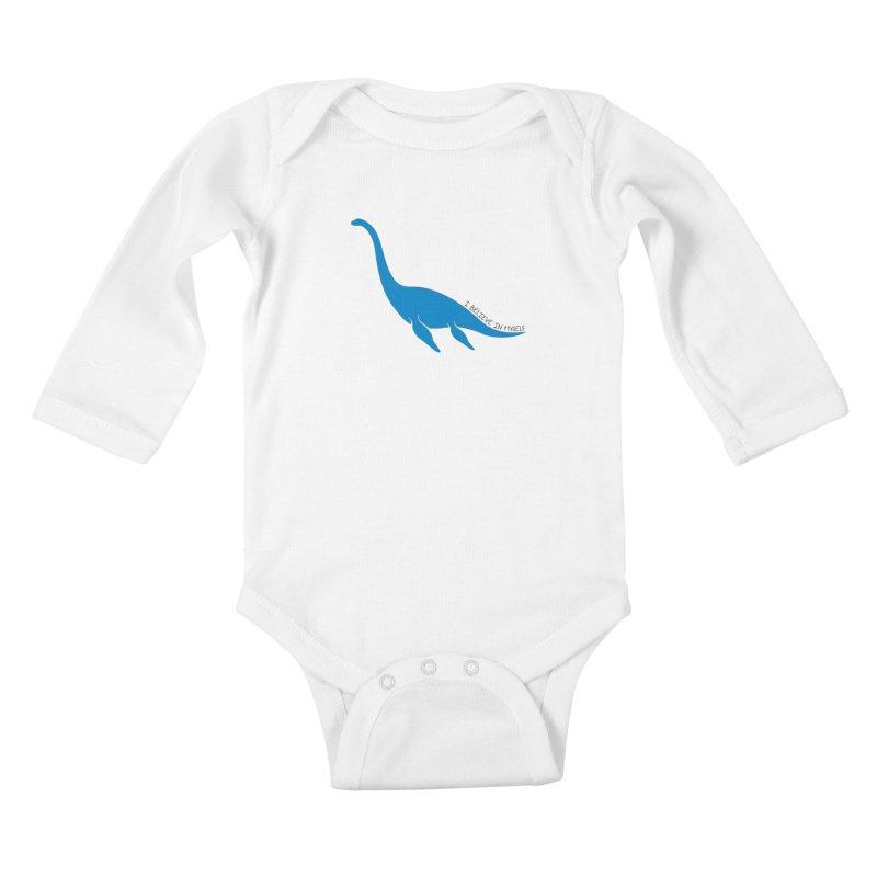Nessie, I believe! Kids Baby Longsleeve Bodysuit by Synner Design