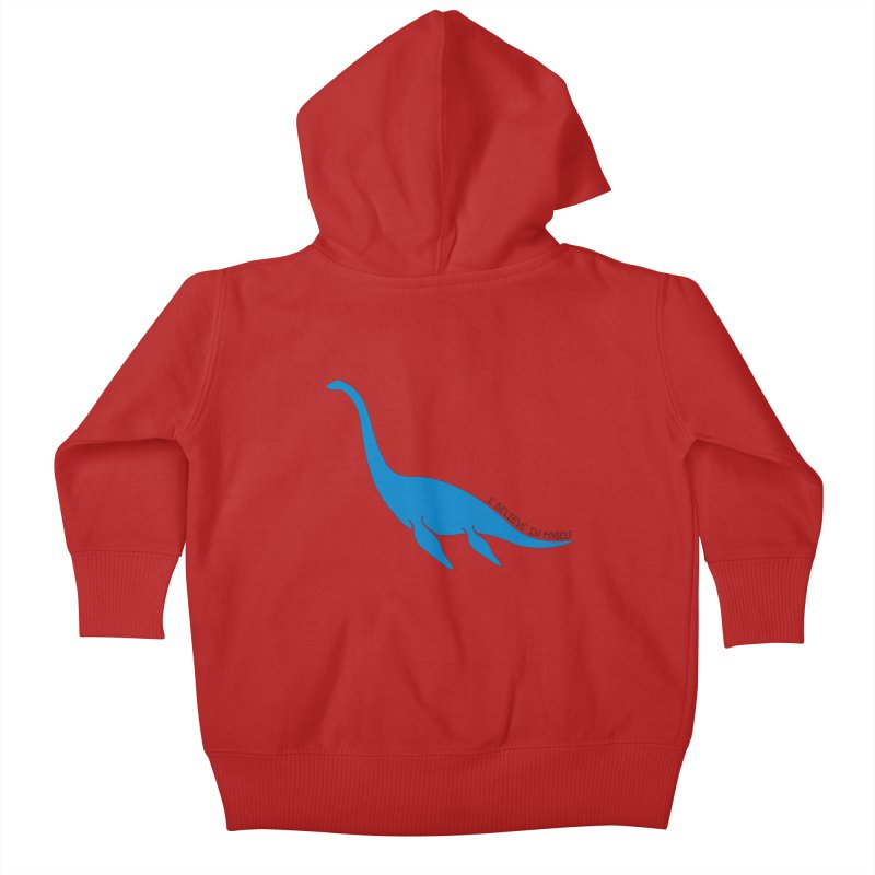 Nessie, I believe! Kids Baby Zip-Up Hoody by Synner Design