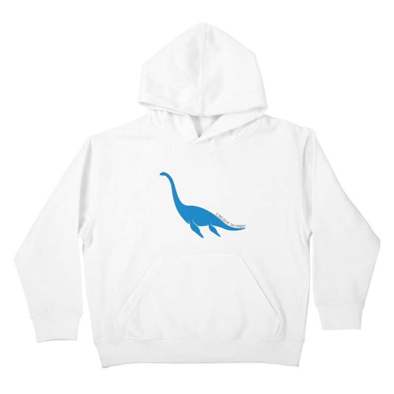 Nessie, I believe! Kids Pullover Hoody by Synner Design