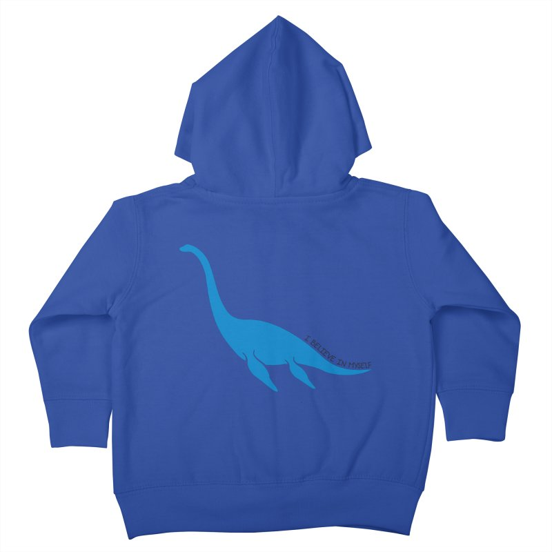 Nessie, I believe! Kids Toddler Zip-Up Hoody by Synner Design