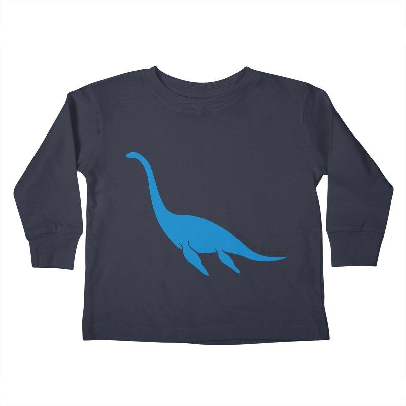 Nessie, I believe! Kids Toddler Longsleeve T-Shirt by Synner Design