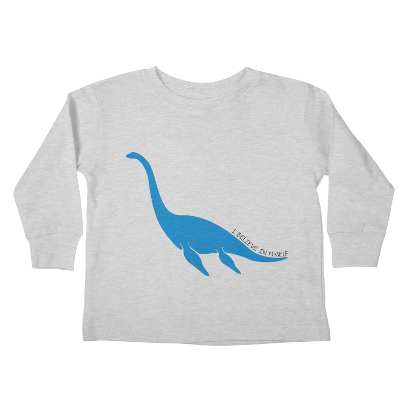 Nessie, I believe! Kids Toddler Longsleeve T-Shirt by Synner Design