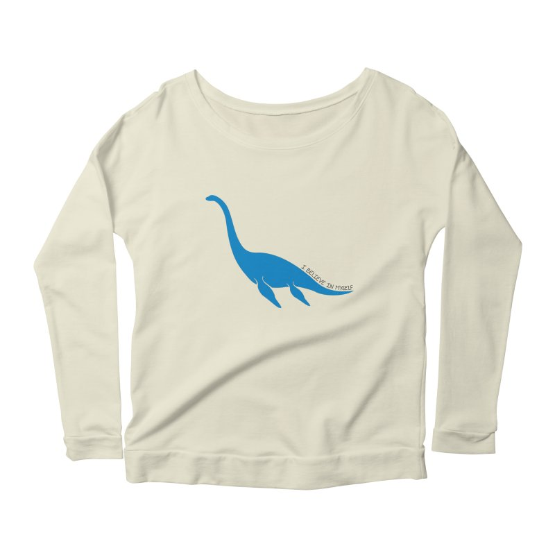 Nessie, I believe! Women's Scoop Neck Longsleeve T-Shirt by Synner Design