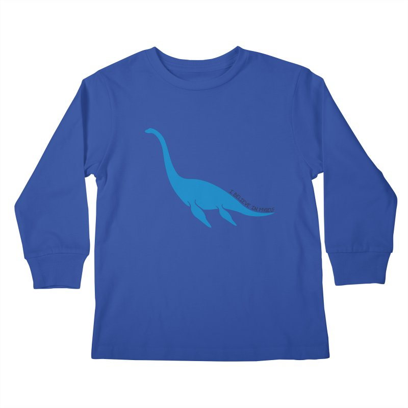 Nessie, I believe! Kids Longsleeve T-Shirt by Synner Design