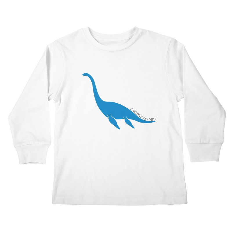 Nessie, I believe! Kids Longsleeve T-Shirt by Synner Design