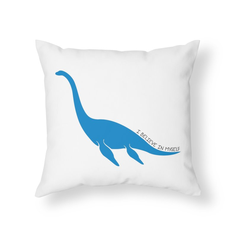 Nessie, I believe! Home Throw Pillow by Synner Design