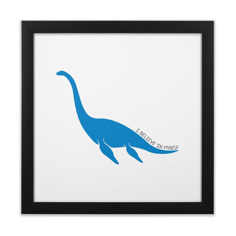 Nessie, I believe! Home Framed Fine Art Print by Synner Design