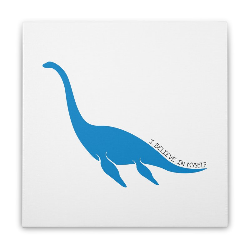 Nessie, I believe! Home Stretched Canvas by Synner Design