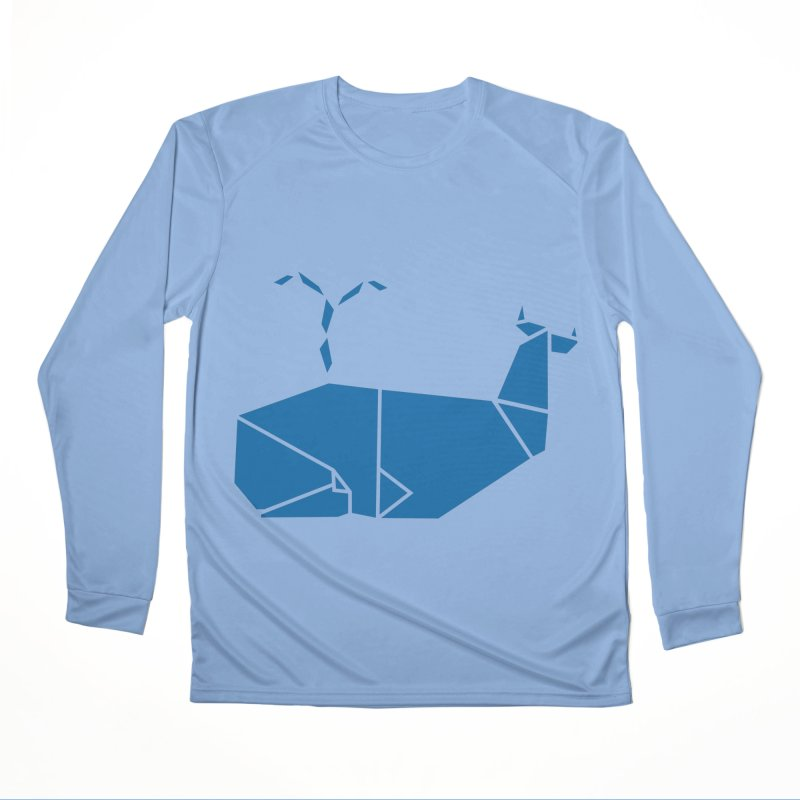Blue Whale Origami Men's Performance Longsleeve T-Shirt by Synner Design