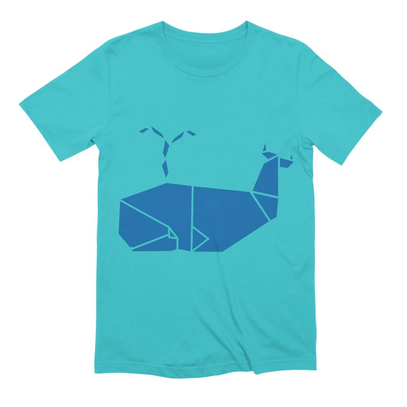 Blue Whale Origami Men's Extra Soft T-Shirt by Synner Design
