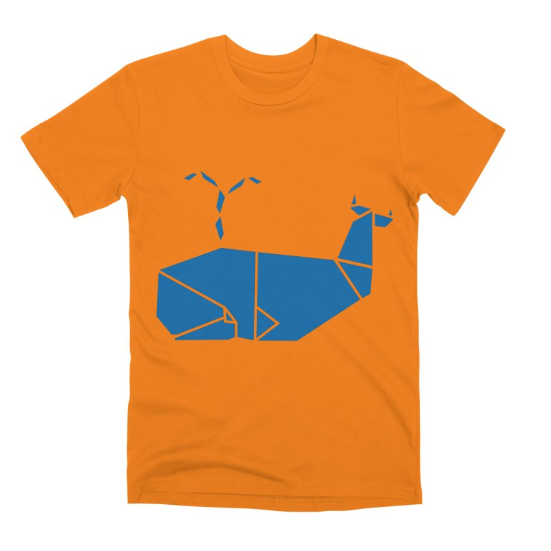 Blue Whale Origami Men's Premium T-Shirt by Synner Design