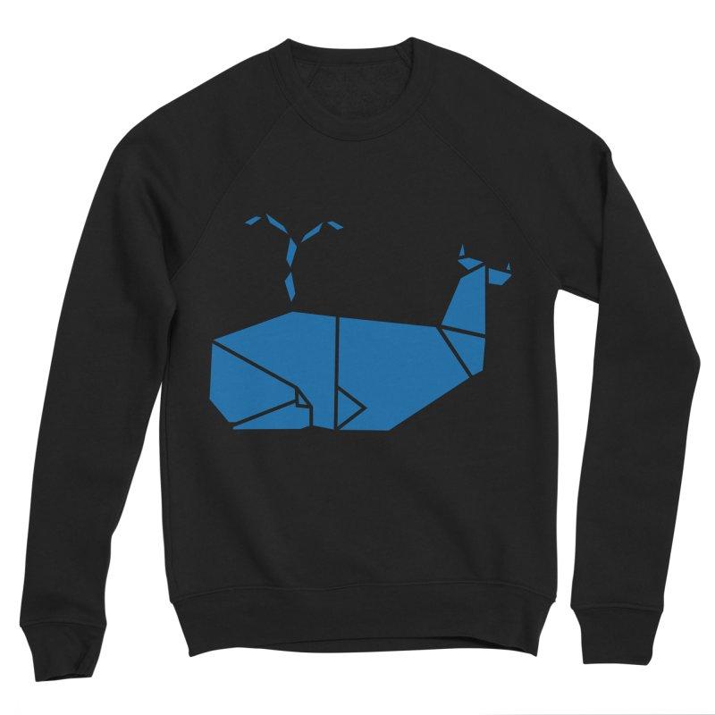 Blue Whale Origami Women's Sponge Fleece Sweatshirt by Synner Design