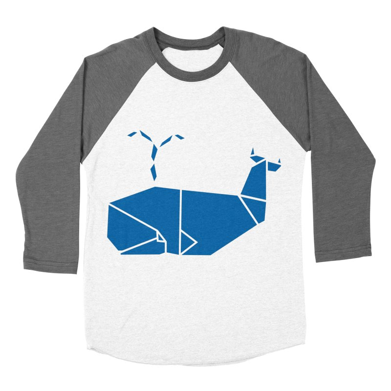 Blue Whale Origami Women's Longsleeve T-Shirt by Synner Design