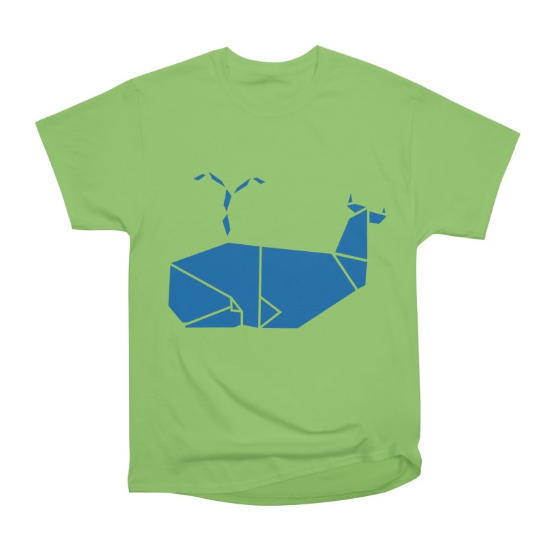 Blue Whale Origami Women's Heavyweight Unisex T-Shirt by Synner Design