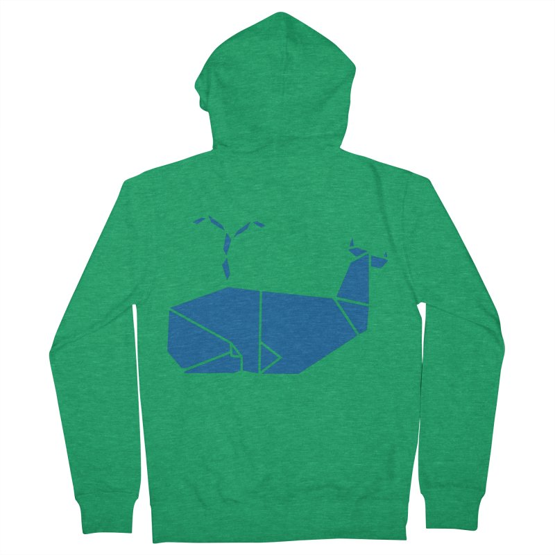 Blue Whale Origami Women's Zip-Up Hoody by Synner Design