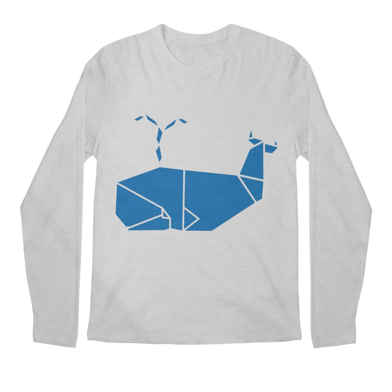 Blue Whale Origami Men's Longsleeve T-Shirt by Synner Design