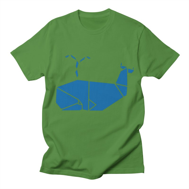 Blue Whale Origami Women's Unisex T-Shirt by Synner Design