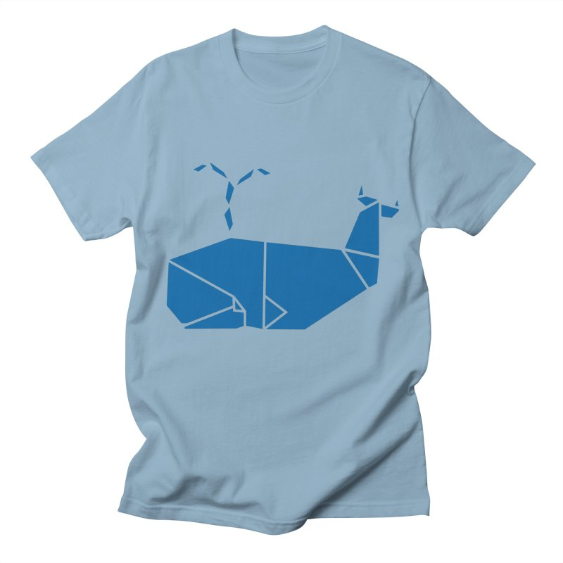 Blue Whale Origami Men's T-Shirt by Synner Design