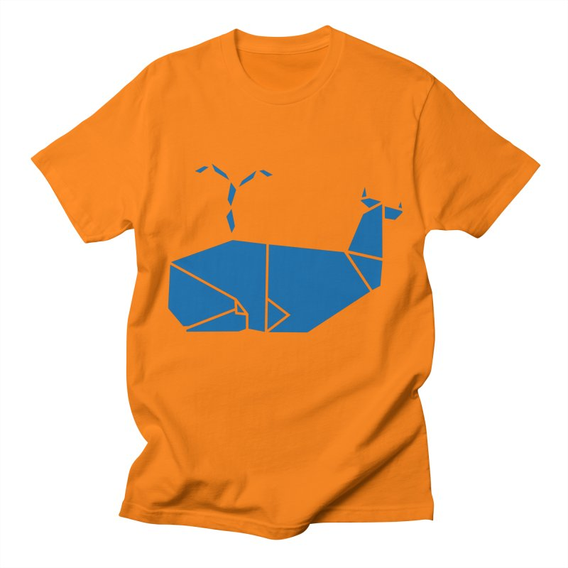 Blue Whale Origami Men's Regular T-Shirt by Synner Design