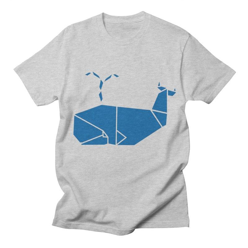 Blue Whale Origami Women's Regular Unisex T-Shirt by Synner Design