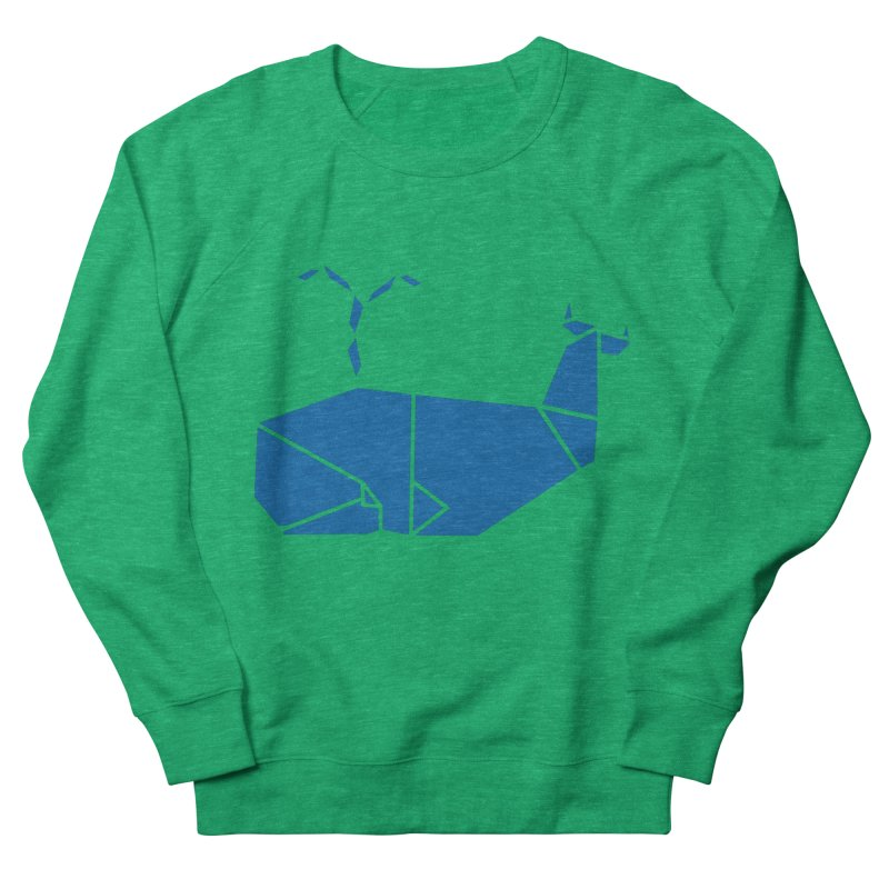 Blue Whale Origami Men's French Terry Sweatshirt by Synner Design