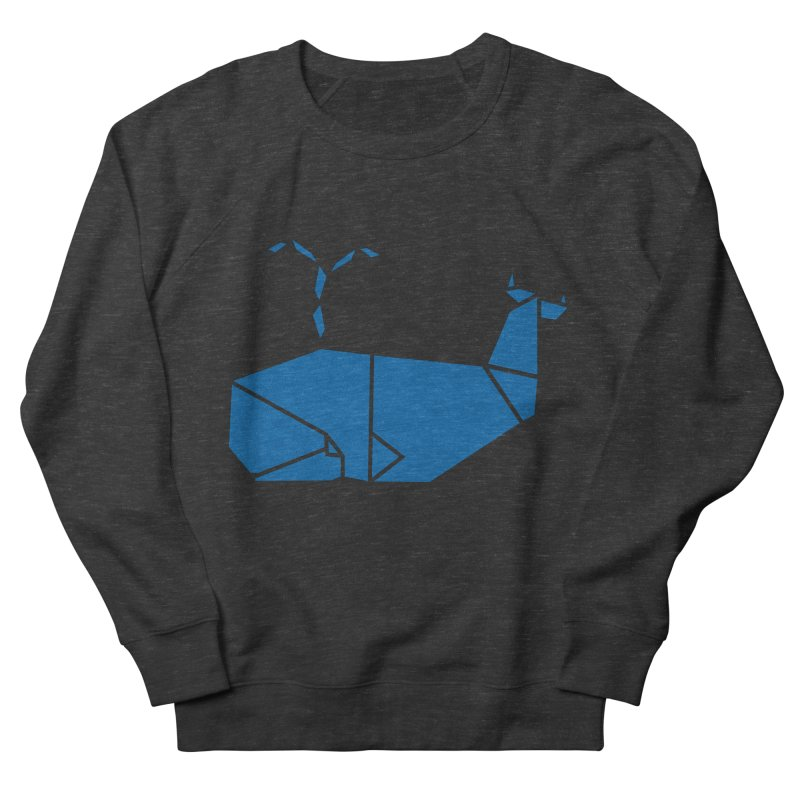 Blue Whale Origami Men's Sweatshirt by Synner Design